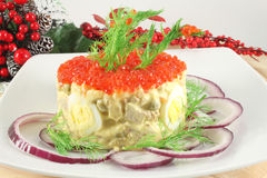 Russian salad Olivier Royalty Free Stock Image