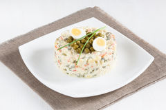 Russian Salad Olivier Stock Photography