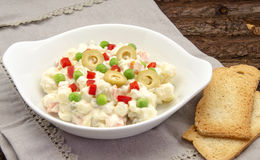 Russian salad Stock Images
