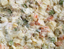 Russian salad texture Stock Image