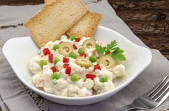 Russian salad. Typical of the Mediterranean diet Royalty Free Stock Photography