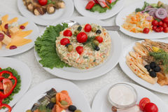 Russian salad Stock Photo