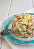 Salad Olivier ( Russian Salat) Stock Photo
