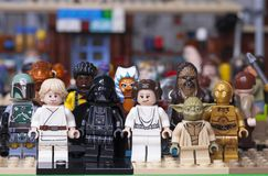 RUSSIAN, SAMARA - JANUARY 24, 2019. LEGO STAR WARS. Minifigures Star Wars Characters royalty free stock photos