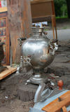 Russian samovar tea boiler Stock Image