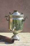 Russian Samovar teapot stock image