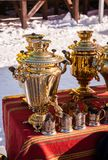 Russian samovar Royalty Free Stock Photos