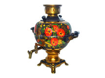 Russian samovar  on white Royalty Free Stock Images