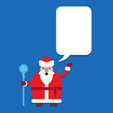 Russian Santa Claus. Ded Maroz Grandfather Frost with Talking Bubble Royalty Free Stock Photography