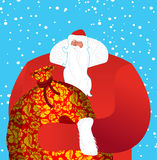 Russian Santa Claus- father frost. Great grandfather in red suit Royalty Free Stock Photography