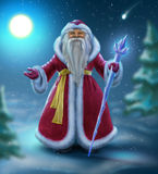Russian Santa Claus in the woods Royalty Free Stock Photography