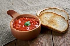 Russian sauce adjika Royalty Free Stock Photography
