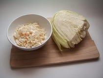 Russian sauerkraut Stock Images