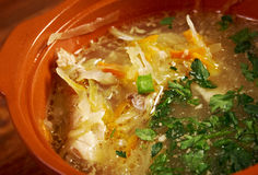 Russian sauerkraut soup stchi Stock Images