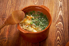 Russian sauerkraut soup stchi Royalty Free Stock Image
