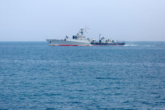 Russian seagoing patrol boat in Black Sea Stock Image
