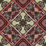 Russian seamless pattern with poppy, mushrooms, daisy and yarrow. Lovely tablecloth Stock Images