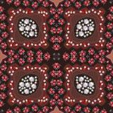 Russian seamless pattern with poppy, mushrooms, daisy and yarrow. Napkin Royalty Free Stock Photo