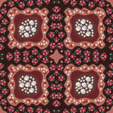 Russian seamless pattern with poppy, mushrooms, daisy and yarrow. Scarf Royalty Free Stock Photography