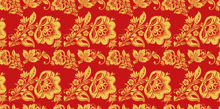 Russian seamless pattern vector with hohloma decor Royalty Free Stock Photos