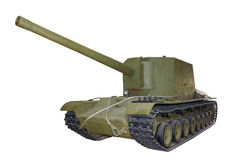 Russian self-propelled gun SU100Y isolated Stock Photos