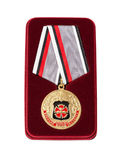 Russian service medal Stock Image