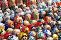 Russian set of nesting doll Stock Image