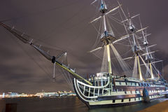 Russian ship in the night Stock Photos