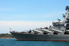 Russian ship in Sevastopol Stock Image