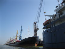 Russian Ships In Anzali Port Royalty Free Stock Images