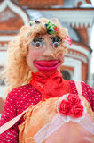 Russian Shrovetide doll for burning. Russia, Yaroslavl 16 of February 2015 Stock Photos