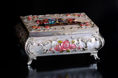 Russian silver casket Royalty Free Stock Photo