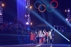 Russian skaters during gala concert in Moscow Royalty Free Stock Photography