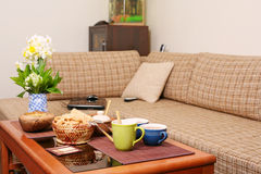 Russian snack on the coffee table Royalty Free Stock Photography