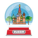 Russian snow globe Stock Images