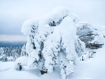 Russian snow winter in stone town Royalty Free Stock Photo