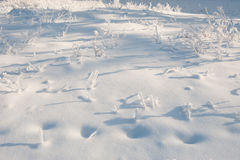 Russian snowdrift Royalty Free Stock Image