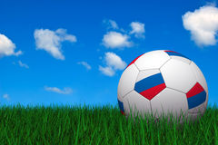 Russian soccer ball Stock Images