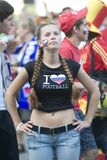 Russian Soccer Fan Stock Images
