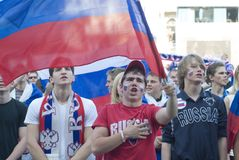 Russian Soccer Fan Royalty Free Stock Photo