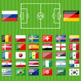 Russian soccer game national teams Royalty Free Stock Photography