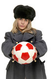 Russian Soccer player Stock Image