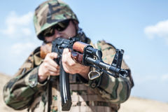 Russian soldier Royalty Free Stock Photos