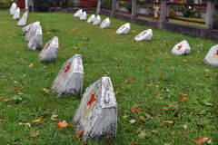 Free Russian Soldier Cemetery. Graves Of The Soviet Soldiers Royalty Free Stock Image - 78733306
