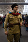 Russian soldier at Militalia 2013 in Milan, Italy Royalty Free Stock Photo