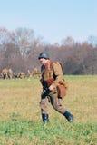 Russian soldier-reenactor Stock Image