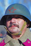 Russian soldier-reenactor Royalty Free Stock Images