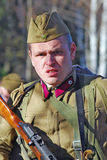 Russian soldier-reenactor Stock Photo