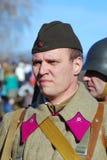 Russian soldier-reenactor Stock Photo