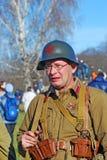 Russian soldier-reenactor Stock Images